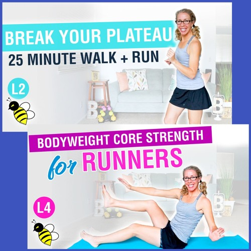 Break Your WEIGHT LOSS Plateau, 25 Minute WALK + RUN Workout with Bodyweight ABS + GLUTES