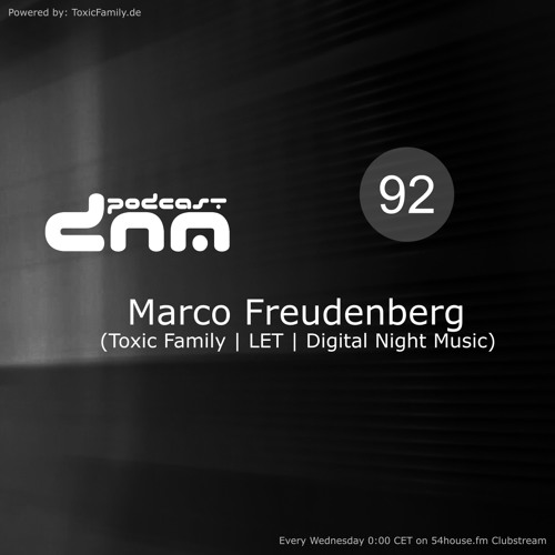 Digital Night Music Podcast 092 mixed by Marco Freudenberg