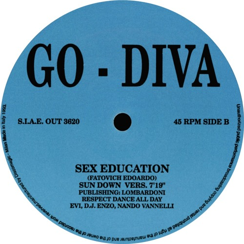 go diva - sex education (sun down vers) out rec. 1993