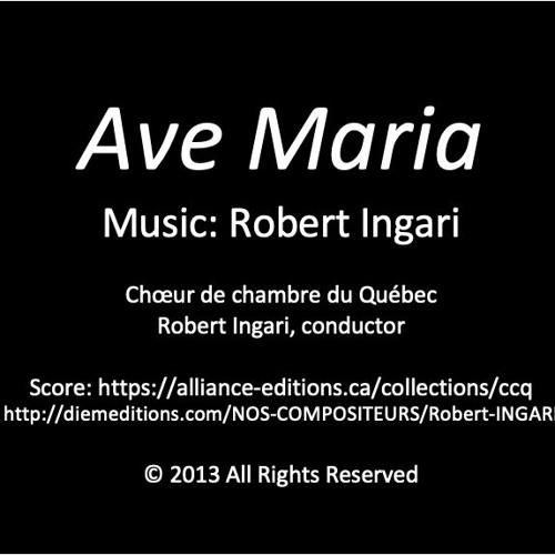 Ave Maria (CD Choeur de chambre du Québec) © R Ingari 2013