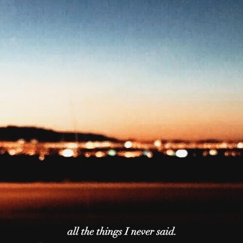all the things I never said.