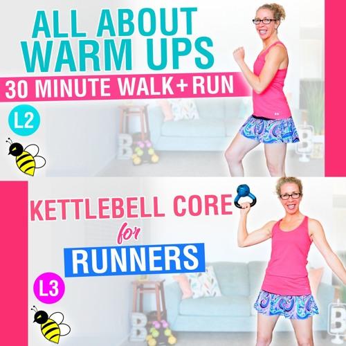 All About WARM UPS | 20 Minute WALK + RUN, plus a KILLER Kettlebell Core Strength Workout