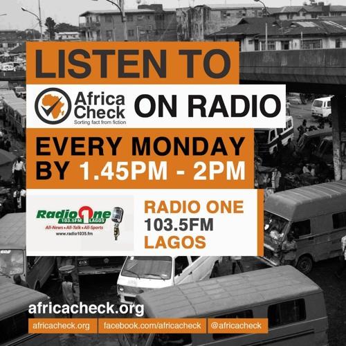 Fact-check of Oby Ezekwesili's manifesto (Radio One 103.5FM Lagos)