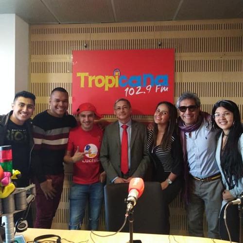 Entrevista para la emisora Tropicana