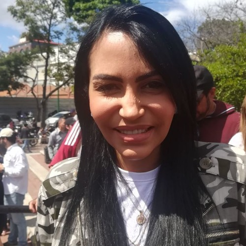 Delsa Solórzano en el marco de la consulta pública de la Ley de Amnistía