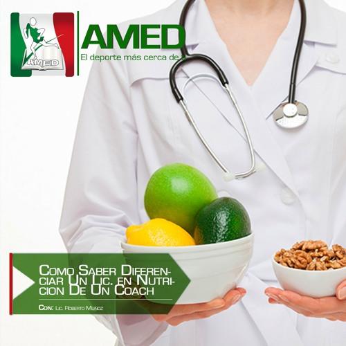 Podcast 263 AMED -Como Saber Diferenciar Un Lic. en Nutricion De Un Coach Especializado En Nutricion