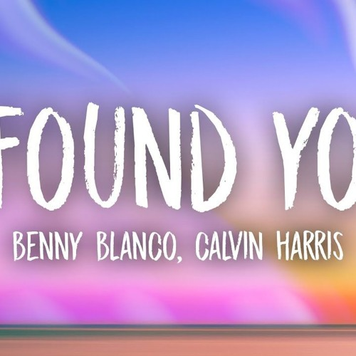 Benny Blanco, Calvin - Harris - I Found You (Redrum Extended Remix)