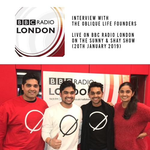 The Oblique Life Founders live on the Sunny & Shay show (BBC Radio London)