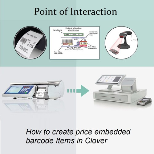 S1 E2 How to create price embedded barcode Items in Clover