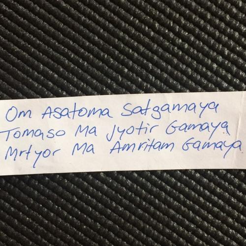 Om Asatoma Satgamaya