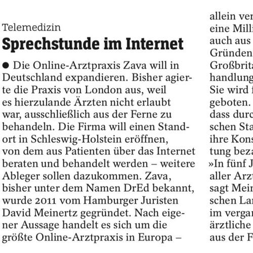 Online-Arztpraxis Zava will auch in Deutschland eröffnen