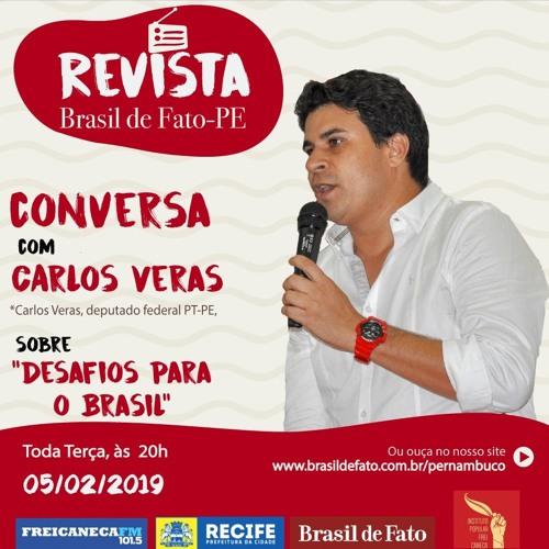 Deputado federal Carlos Veras participa do Revista Brasil de Fato