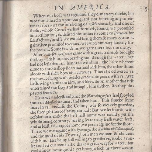 Mayflower 400: Mourts Relation