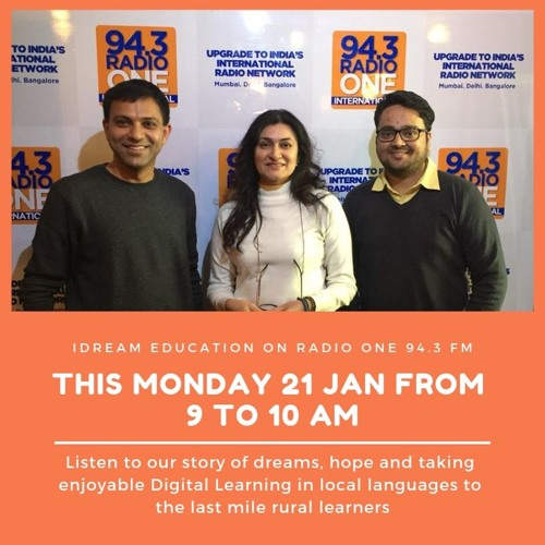 iDream Education's Story and Journey on Radio One 94.3 FM