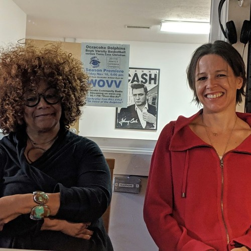 Ocracoke radio interview with Jaki Shelton Green and me