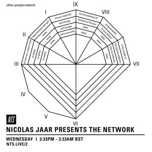 Nicolas Jaar Presents the Network - Part 1 (Sept 7, 2016)