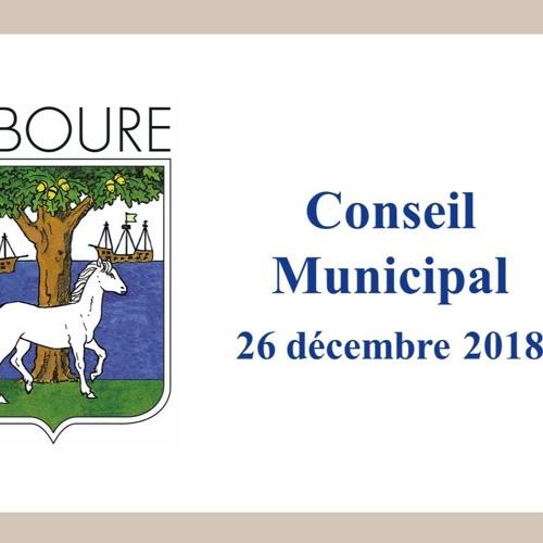 Conseil municipal de Ciboure du 26/12/2018