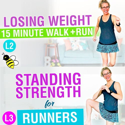 How LOSING WEIGHT Changes You 15 Minute WALK + RUN Plus Standing GLUTES + ABS
