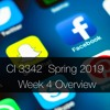 CI 3342, Spring 2019: Week 4 Overview Podcast