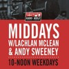 The Midday Rush w @LachTalk  @TheOnlySweeney - Tuesday February 12 - Hour 1