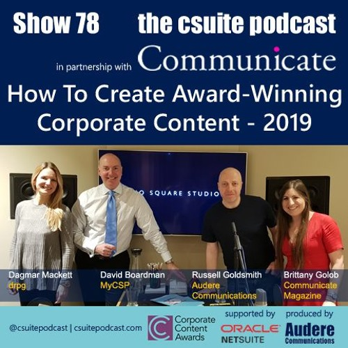 Show 78 - How To Create Award-Winning Corporate Content 2019