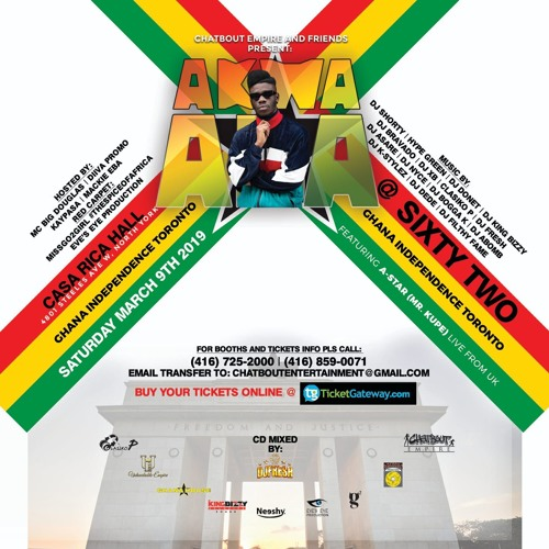 AKWAABA GHANA AT 62 INDEPENDENCE CELEBRATION INSIDE CASA RICCA MARCH 9TH
