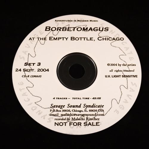 Borbetomagus at the Empty Bottle, Chicago - Sept. 24th, 2004