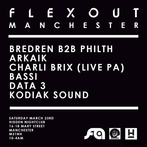BASSI PROMO MIX: Flexout Audio @ Hidden, Manchester
