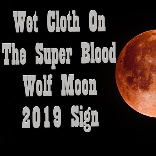 Wet Cloth On The Super Blood Wolf Moon 2019 Sign