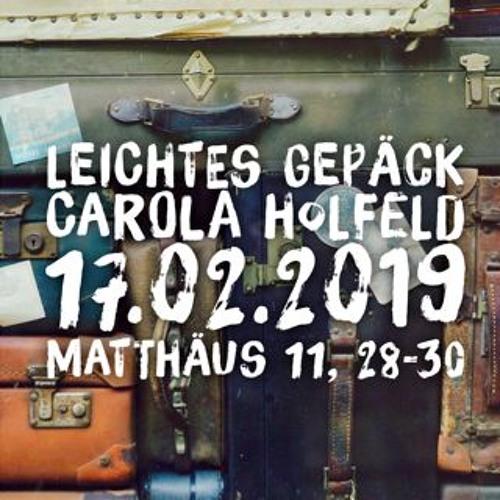 20190217 Leichtes Gepäck Carola Holfeld