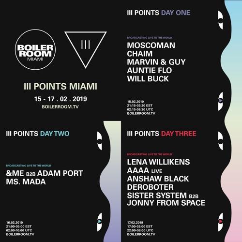 AAAA Live   Boiler Room x III Points Festival
