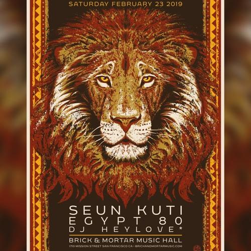 DJ heyLove* opening set 4// SEUN KUTI & EGYPT 80