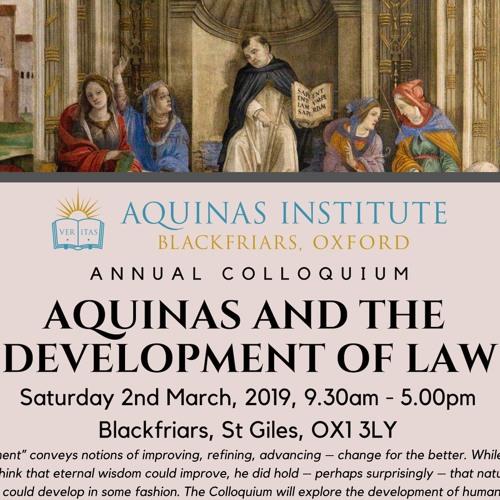 Of Course Human Law Develops. Can Natural and Divine Law Develop? - Prof J. Budziszewski