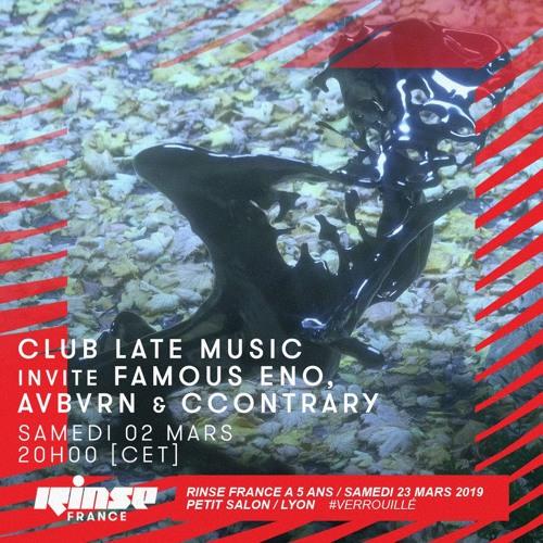 Club Late Music invite Famous Eno, Avbvrn & ccontrary