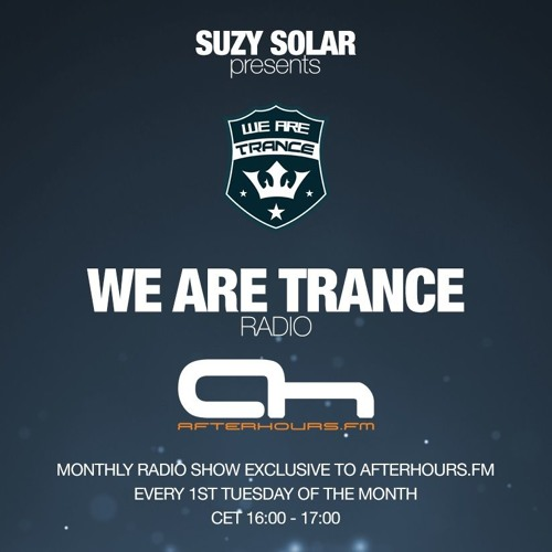 Suzy Solar presents We Are Trance Radio 018