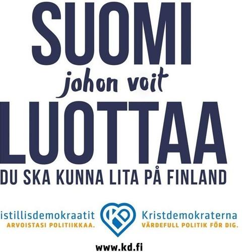 KD:N RADIOMAINOS ISKELMÄSSÄ, EDUSKUNTAVAALIT 2019.