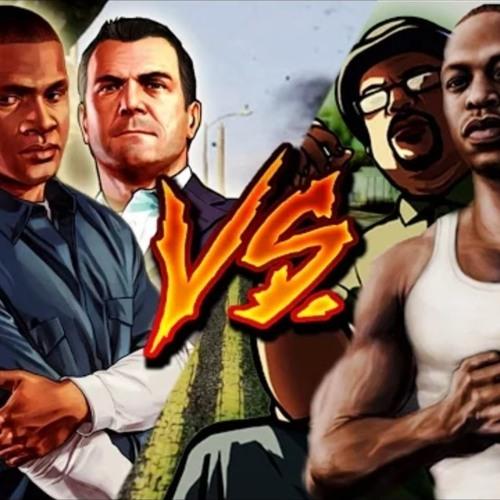 GTA V(5) Vs  GTA San Andreas Epic rap battles by VENOM