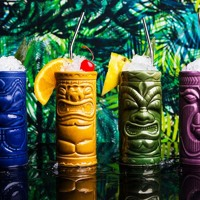 Grass skirts and rum mix well