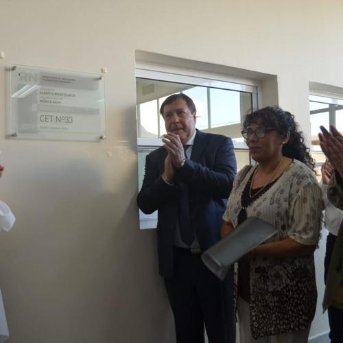 Alberto Weretilneck-El Gobierno inauguró el CET 33, el más grande de la provincia