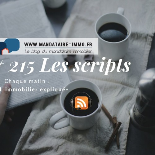 PODCAST'IMMO #215 : LES SCRIPTS