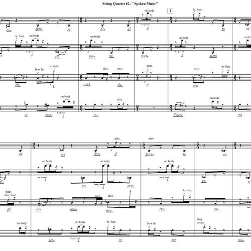 String Quartet #2 - Spoken Music (2017)