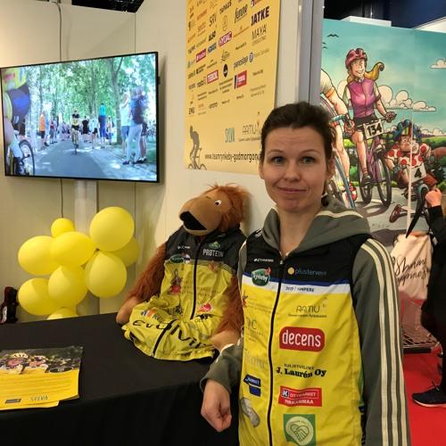 Tuplarooli Espoon tiimissä. Elina Siponen, Team Rynkeby-God Morgon.