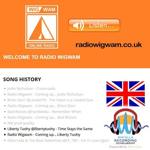 Liberty Tuohy on RADIO WIGWAM UK