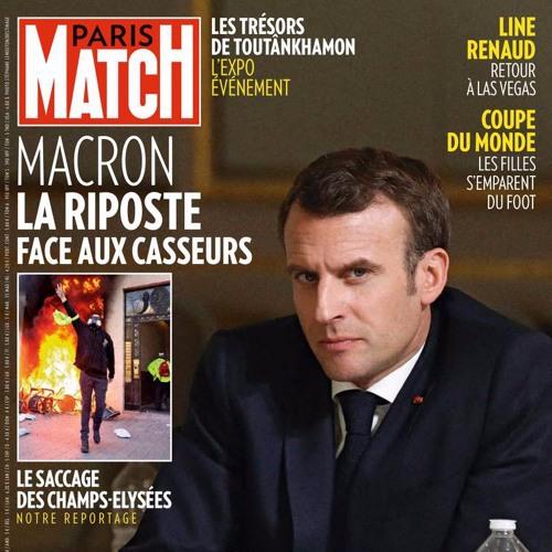 """LES PHOTOS DE LA SEMAINE - MACRON EN UNE DE """"PARIS MATCH"""" by Polka Magazine"""