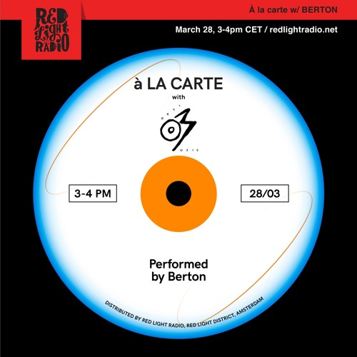 À la carte 03 w/ Optimo music @Red Light Radio 28.03.19