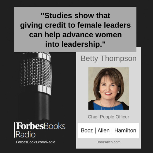 "Betty Thompson, Booz Allen's Chief People Officer, helped us wrap up ""Women's History Month"" discussing the importance of advancing more women into leadership and her recent blog post ""Trailblazing for a Purpose: Four Unsung Women Who Persevered."""