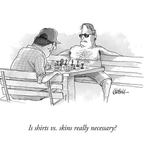 The making of Shirts V Skins Chess