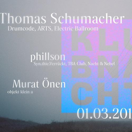 Opening Klubnacht w. Thomas Schumacher o1.o3.2o19