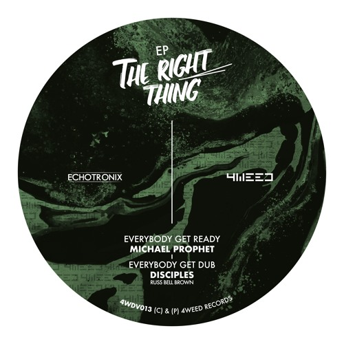 """The Right Thing Ep - 12"""" vinyl - 4Weed Records / Echotronix"""