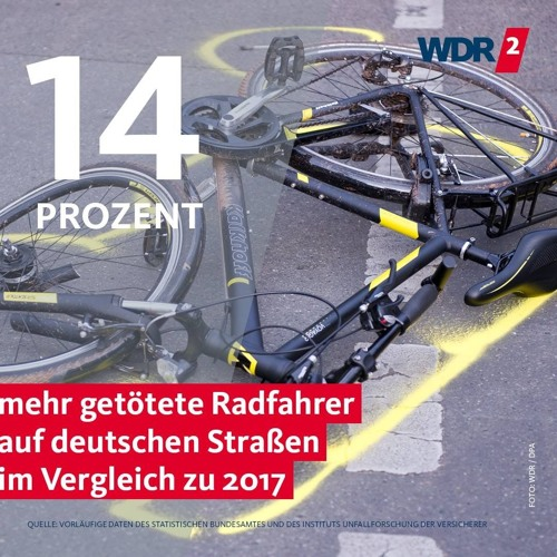 Mehr Radfahrunfälle auf deutschen Straßen